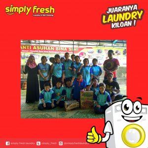 Kegiatan Berbagi dari Simply Fresh Laundry (Panti Asuhan Bina Siswi)