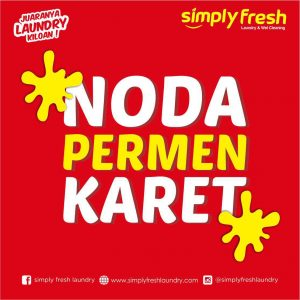 Membersihkan Noda Permen Karet