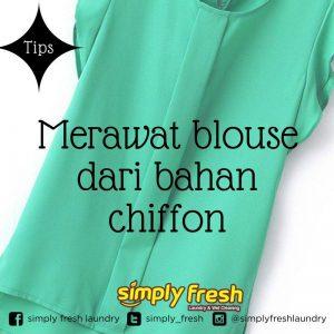 Cara Merawat blouse dari bahan chiffon