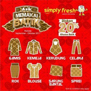 Promo Simply Fresh Laundry Bulan September-Oktober | Asik Memakai Batik