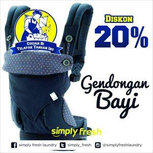 Promo Gendongan Bayi 20%, Simply Fresh Laundry