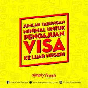 Jumlah tabungan minimal untuk pengajuan visa ke luar negeri