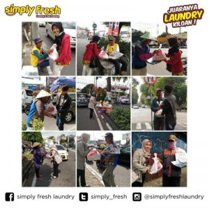 Corporate Social Responsibility Simply Fresh Laundry di bulan Syawal